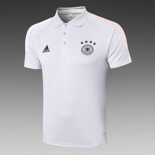 Germany 20/21 Pre-Match Polo Kit Light Grey C474#