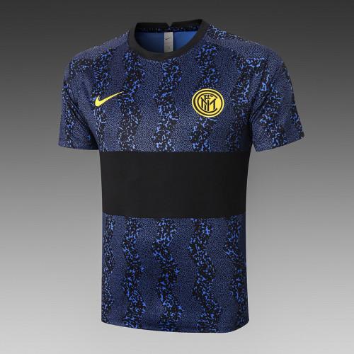 Inter Milan 20/21 Training Kit Bright Blue and Black C539#