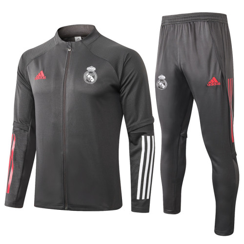 Real Madrid 20/21 Jacket Tracksuit Dark Grey A353#