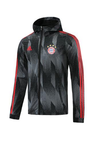 Bayern Munich 21/22 Windbreaker Black and Grey