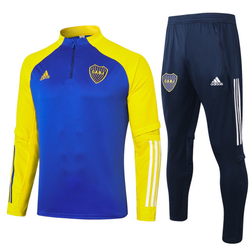 Boca Juniors 20/21 Drill Tracksuit Bright Blue B427#