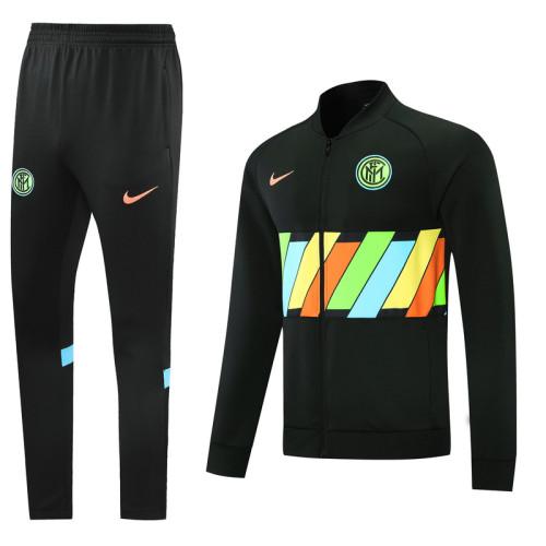 Inter Milan 21/22 Jacket Tracksuit Black CX07