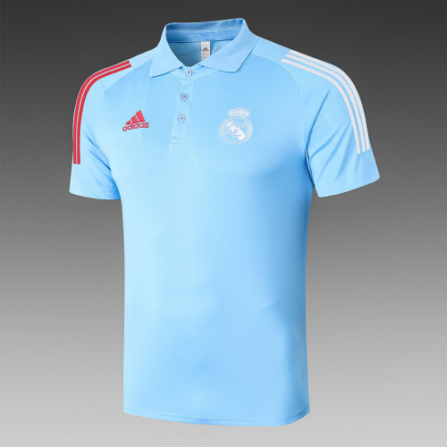 Real Madrid 20/21 Pre-Match Polo Kit Blue C511#