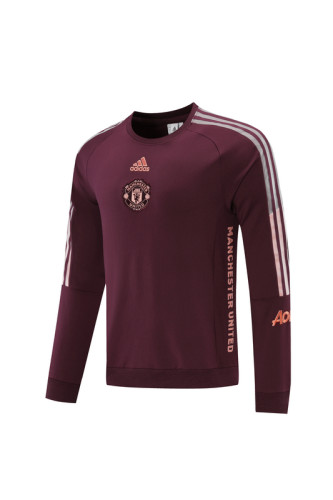 Manchester United 21/22 Training Top Burgundy