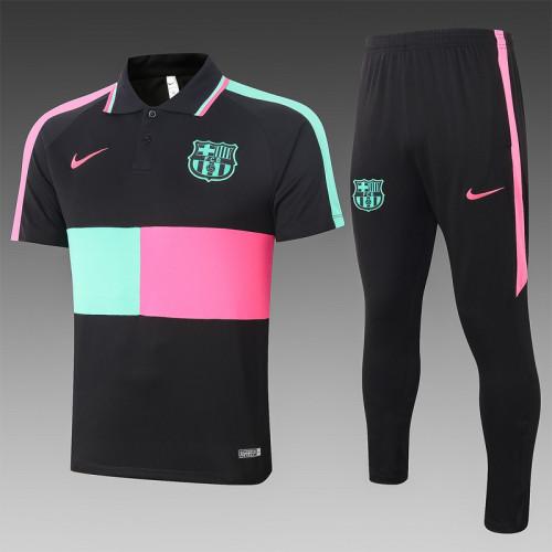 Barcelona 20/21 Pre-Match Polo Kit Black C486#