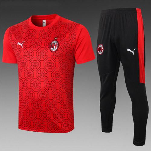 AC Milan 20/21 Training Kit Red C574#
