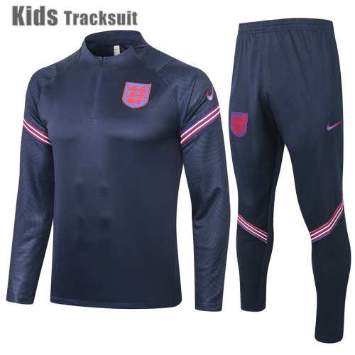 Kids England 2021 Drill Tracksuit Navy E443#
