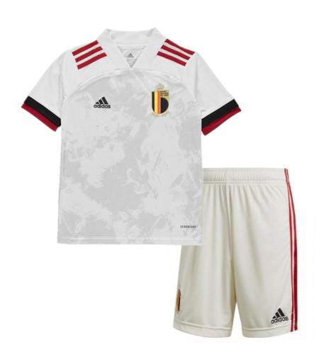 Belgium 2021 Kids Away Soccer Jersey and Short Kit