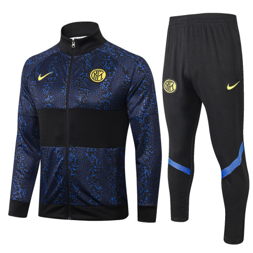 Inter Milan 20/21 Jacket Tracksuit Navy and Black A340#