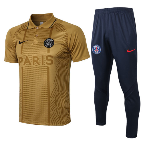 Paris Saint-Germain 21/22 Pre-Match Polo Kit Golden C613#