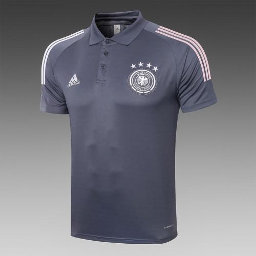 Germany 20/21 Pre-Match Polo Kit Dark Grey C485#