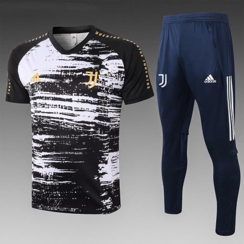 Juventus 20/21 Training Kit Black and White C583#