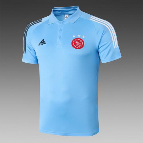 Ajax 20/21 Pre-Match Polo Kit Blue C527#