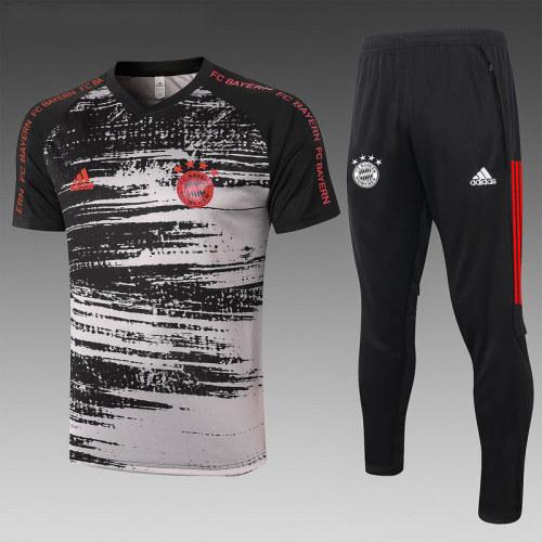 Bayern Munich 20/21 Training Kit Black and Grey C585#