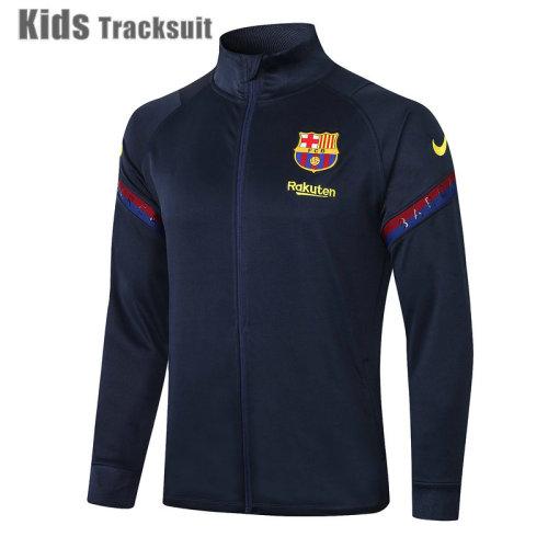 Kids Barcelona 20/21 Jacket Tracksuit Navy E448#