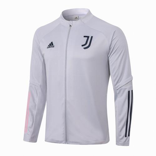 Juventus 20/21 Jacket Tracksuit Light Grey A342#