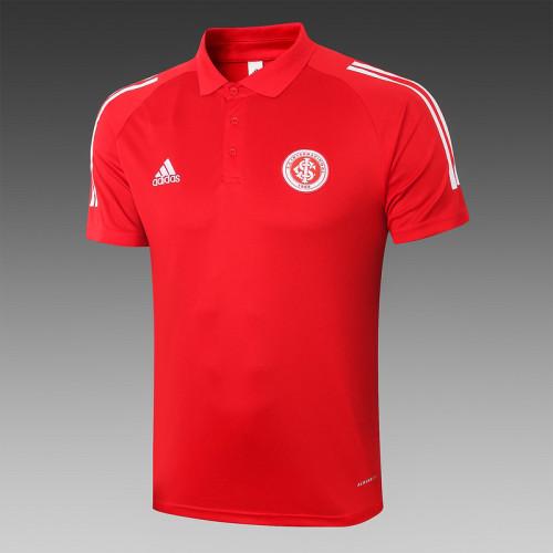 Sport Club Internacional 2020 Pre-Match Polo Kit Red C449#