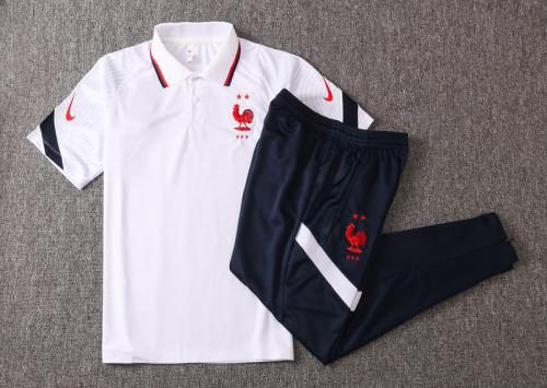 France 20/21 Pre-Match Polo Kit White C487#