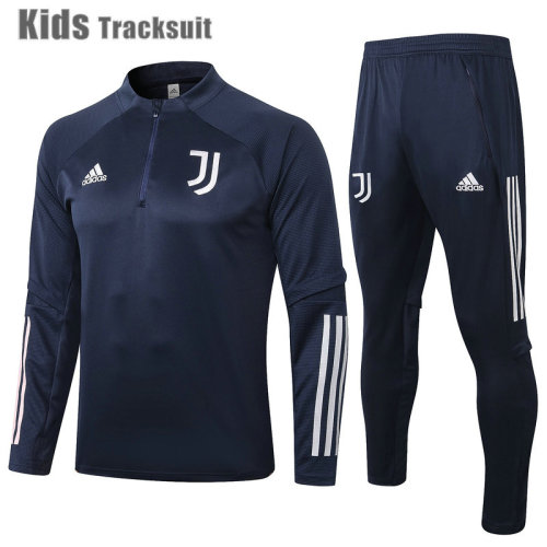 Kids Juventus 20/21 Drill Tracksuit Navy E477#