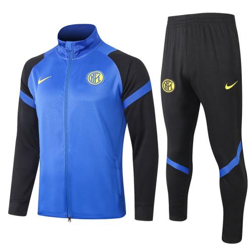 Inter Milan 20/21 Jacket Tracksuit Bright Blue A339#