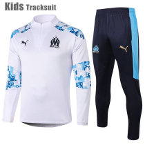 Kids Olympique Marseille 20/21 Drill Tracksuit White E462#