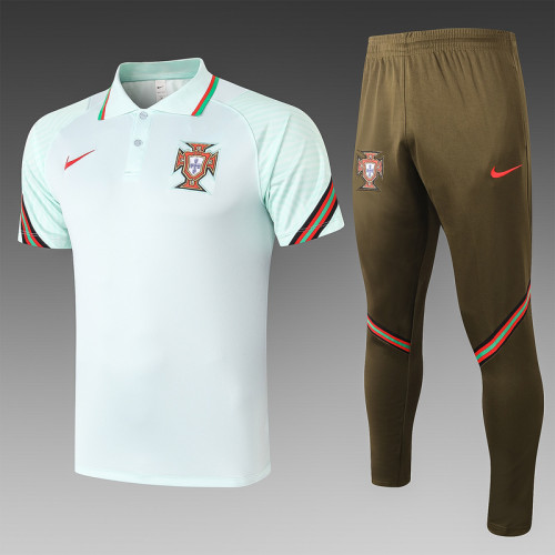 Portugal 20/21 Pre-Match Polo Kit Light Green C510#
