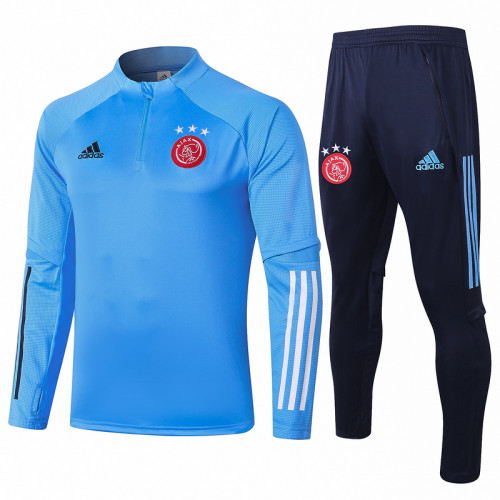 Ajax 20/21 Drill Tracksuit Light Blue B407#