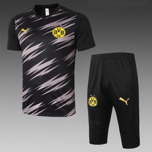 Borussia Dortmund 20/21 Drill Kits Black and Grey D562#