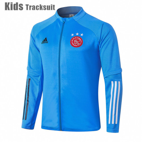 Kids Ajax 20/21 Jacket Tracksuit Light Blue E463#