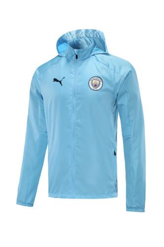Manchester City 21/22 Windbreaker Blue