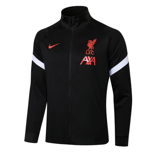 Liverpool 21/22 Jacket Tracksuit Black A411#