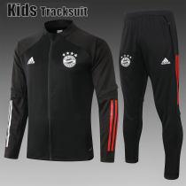 Kids Bayern Munich 20/21 Jacket Tracksuit Black E474#