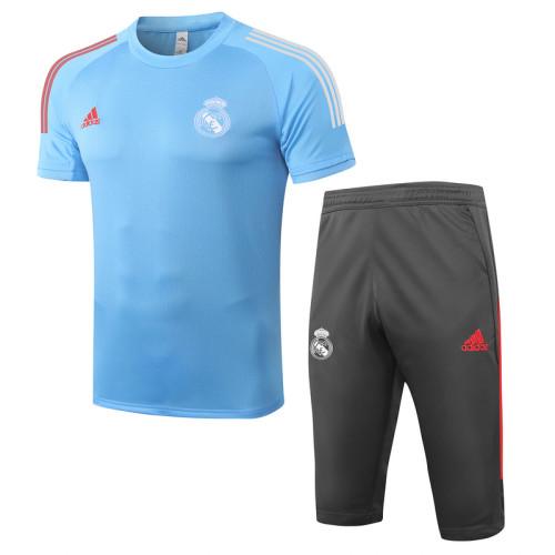 Real Madrid 20/21 Drill Kits Light Blue D285#