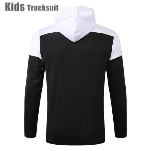 Kids Juventus 20/21 Hoodie Tracksuit Black E489#
