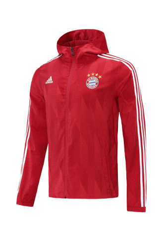 Bayern Munich 21/22 Windbreaker Red