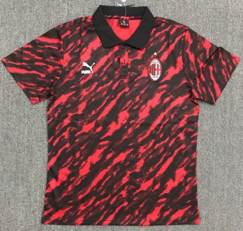 AC Milan 21/22 Pre-Match Polo Shirt Red