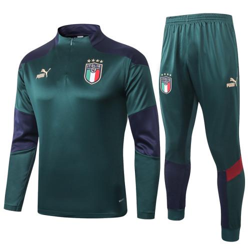 Italy 20/21 Drill Tracksuit Dark Green B371#