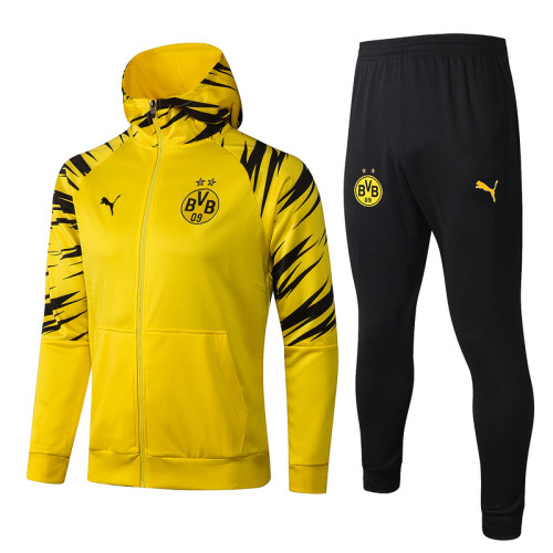 Borussia Dortmund 20/21 Full-Zip Hoodie Tracksuit Yellow F294#