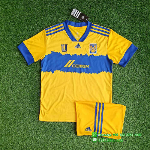 Tigres UANL 2021 Home Soccer Jersey and Short Kit