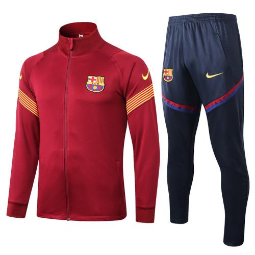 Barcelona 20/21 Jacket Tracksuit Purplish Red A348#