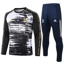 Juventus 20/21 Drill Tracksuit Black and White B436#