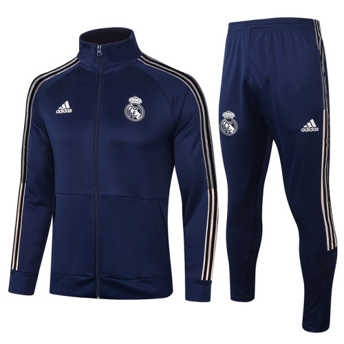 Real Madrid 20/21 Jacket Tracksuit Navy A408#