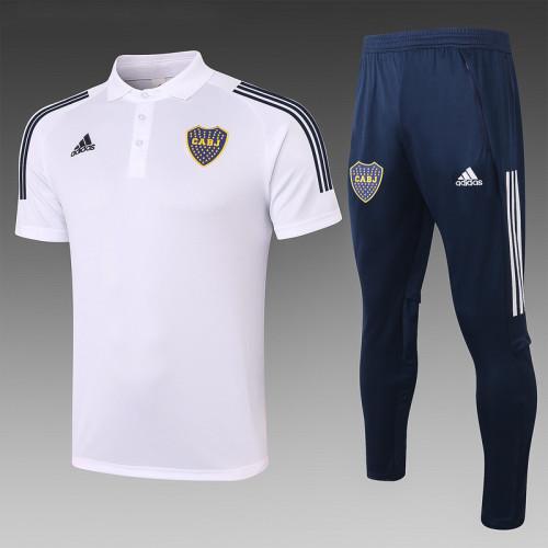 Boca Juniors 2020 Pre-Match Polo Kit White C569#