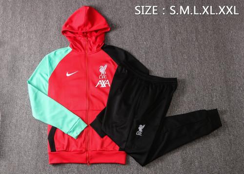 Liverpool 20/21 Full-Zip Hoodie Tracksuit Red F288#