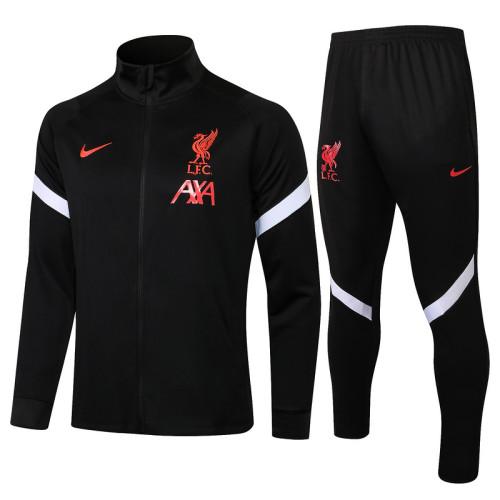 Liverpool 21/22 Jacket Tracksuit Black A411#