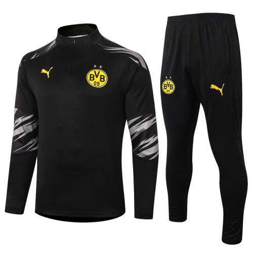 Borussia Dortmund 20/21 Drill Tracksuit Black B424#
