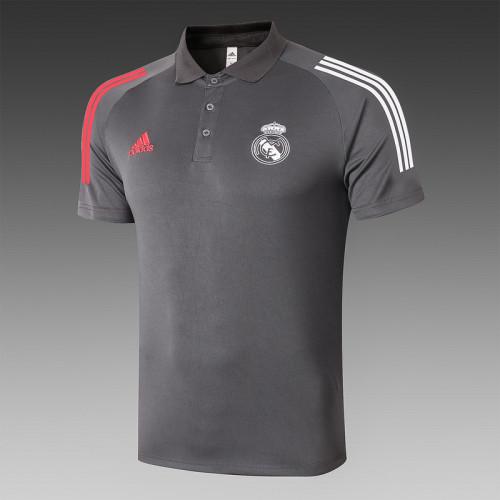 Real Madrid 20/21 Pre-Match Polo Kit Dark Grey C513#