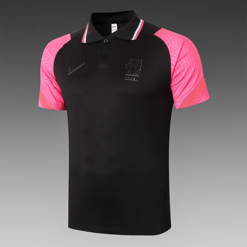 South Korea 20/21 Pre-Match Polo Kit Black C541#