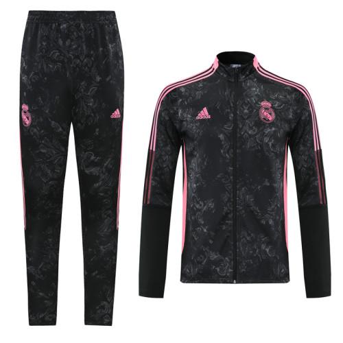 Real Madrid 21/22 Jacket Tracksuit Black CX08