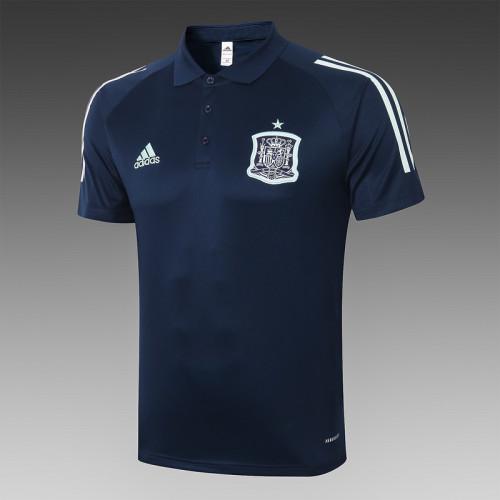 Spain 20/21 Pre-Match Polo Kit Navy C448#